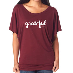 Grateful for Wine Batwing Top (+colors) $13.50 ea