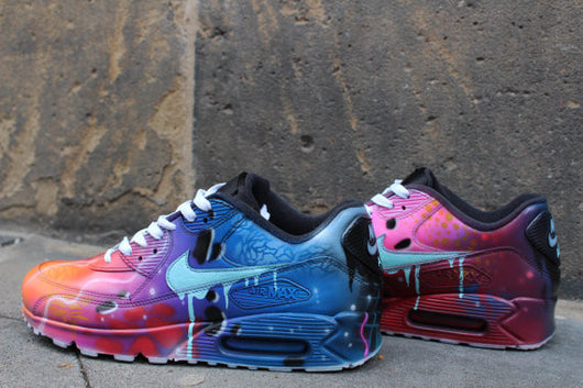 Galaxy Air Blue Shoes Sneaker 90 Nike Style Max Custom Painted wXnO0k8P