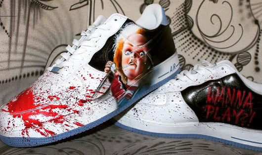 new products 2bc08 8974a Custom Nike Air Force One CHUCKY handpainted Sneaker Horror Shoes