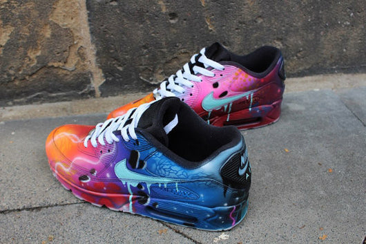 buying cheap excellent quality exquisite style top quality nike air max 90 galaxy custom d7a83 5a37f