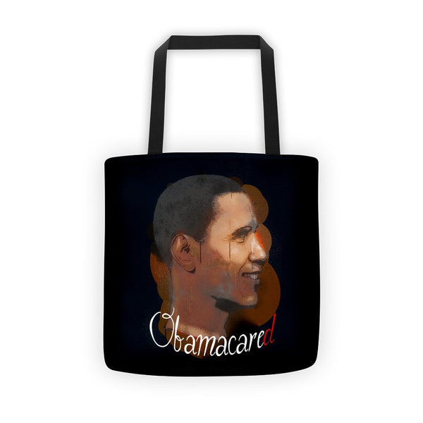 Obama Cared Allover Print Tote bag