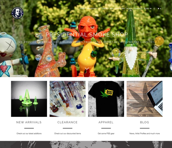 Presidential Smoke Shop launches new website