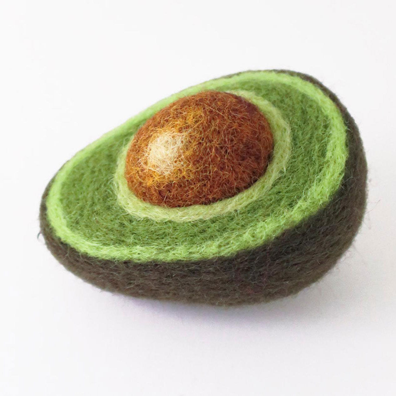 Felted Avocado from Fuzz-E-Food