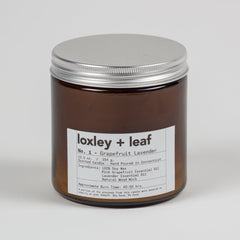 Grapefruit Lavender Essential Oil Candle - Loxley and Leaf