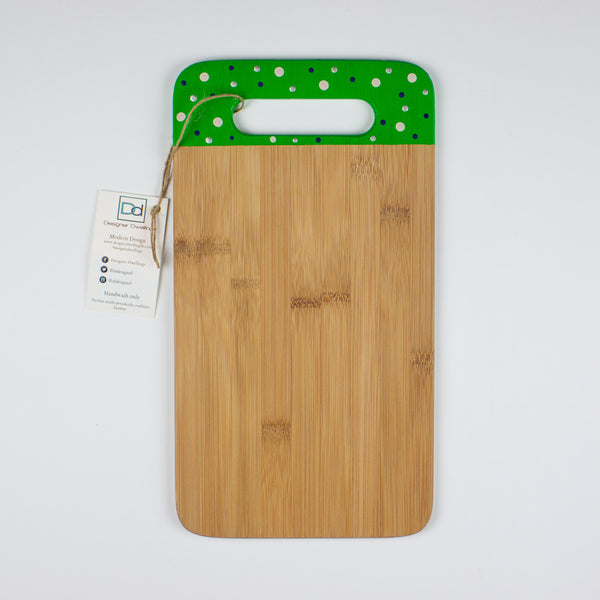 Designer Dwellings 'Whalers' Polka Dot Bamboo Cutting Board