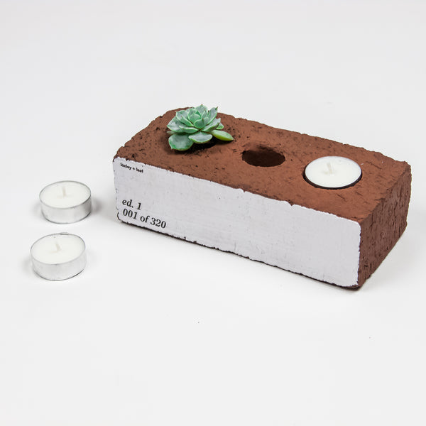 Re: Home Brick Votive Planter Votive/Planter- Loxley and Leaf
