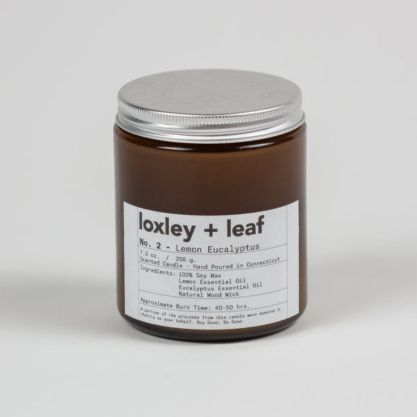 Lemon Eucalyptus Essential Oil Candle - Loxley and Leaf