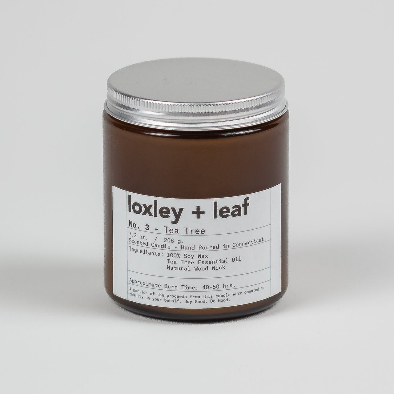 Tea Tree Essential Oil Candle - Loxley and Leaf