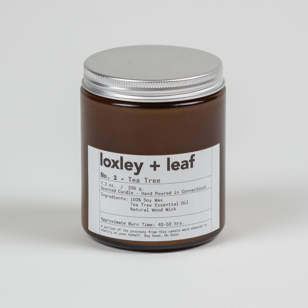 Tea Tree Candle Wholesale - Loxley and Leaf