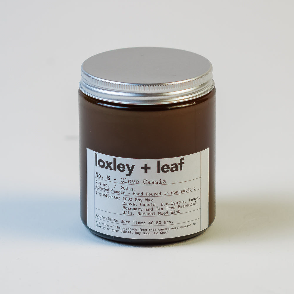 Basil Black Pepper Essential Oil Candle - Loxley and Leaf