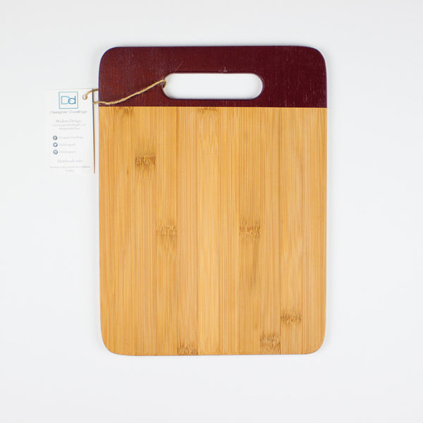Designer Dwellings Burgundy Bamboo Cutting Board