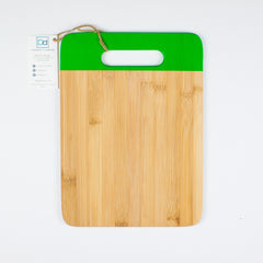 Designer Dwellings Green Bamboo Cutting Board - Loxley and Leaf