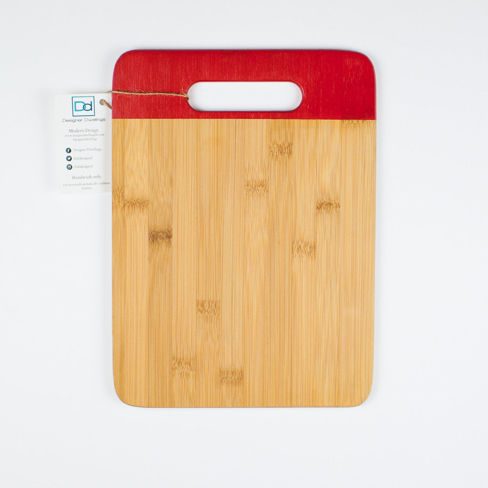 Designer Dwellings Red Bamboo Cutting Boards Cutting Board- Loxley and Leaf