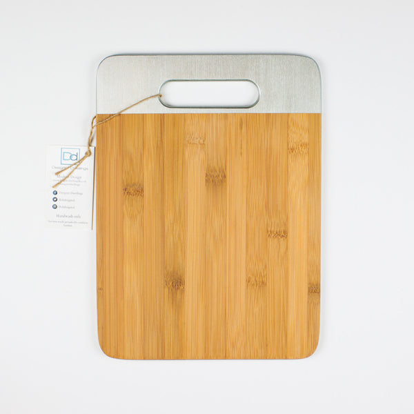 Designer Dwellings Silver Bamboo Cutting Boards