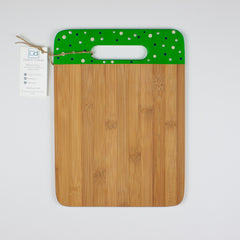 Designer Dwellings 'Whalers' Polka Dot Bamboo Cutting Board Cutting Board- Loxley and Leaf