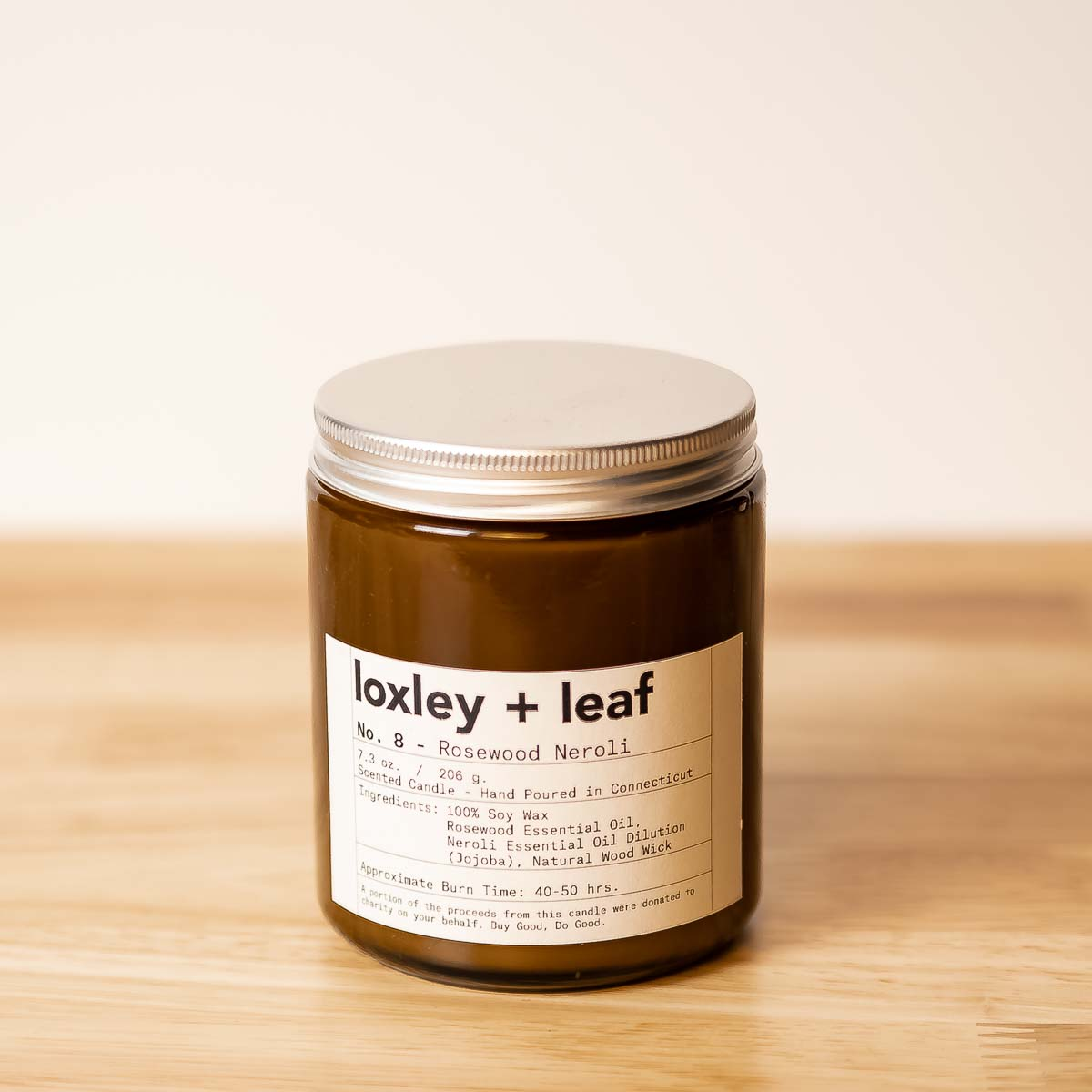 Rosewood Neroli Essential Oil Candle - Loxley and Leaf