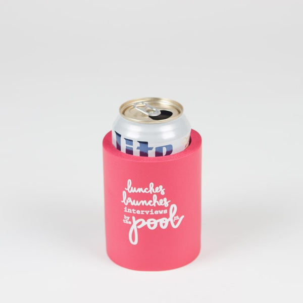 Fresh Prints Press - 'Lunches, Brunches, Interviews By the Pool' Koozie