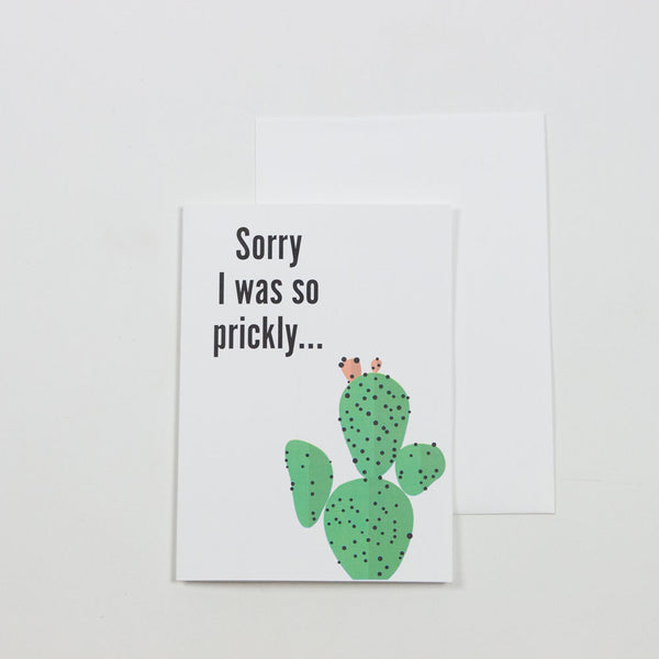 Sorry I Was So Prickly Greeting Card Greeting Cards- Loxley and Leaf