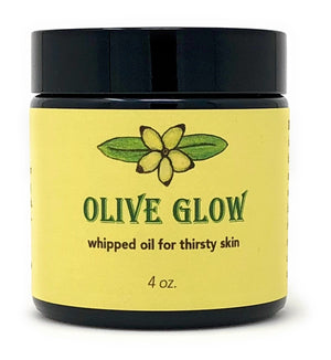 Olive Glow whipped oil for thirsty skin by Ella Taibi