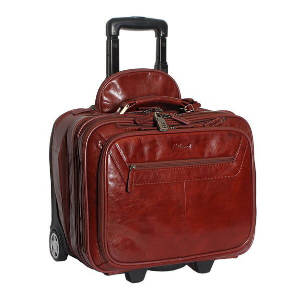 Wheeled Holdall, Ashwood Wheeled Leather Business / Weekend Case | Cognac - Voyager Leather