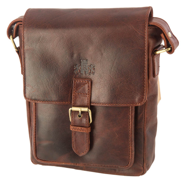 Man Bag, Rowallan Leather Everyday Bag | Cognac - Voyager Leather