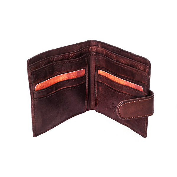 Wallet, Men's Vintage Look Leather Wallet | Brown - Voyager Leather