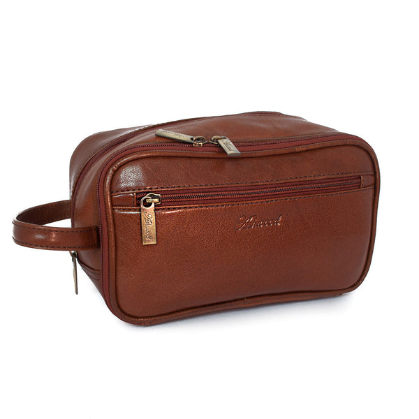 Washbag, Ashwood Chelsea Leather Washbag | Chestnut - Voyager Leather