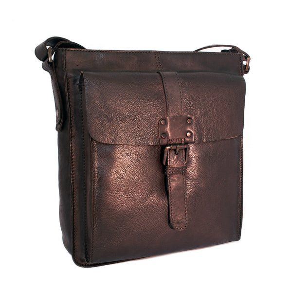 Man Bag, Ashwood Shoreditch Leather Everyday Bag | Brown - Voyager Leather