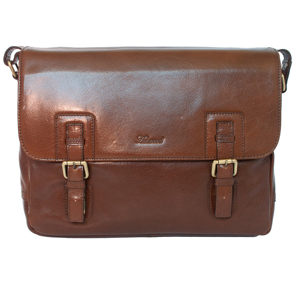 Messenger Bag, Ashwood Jasper Leather Messenger Bag | Chestnut - Voyager Leather