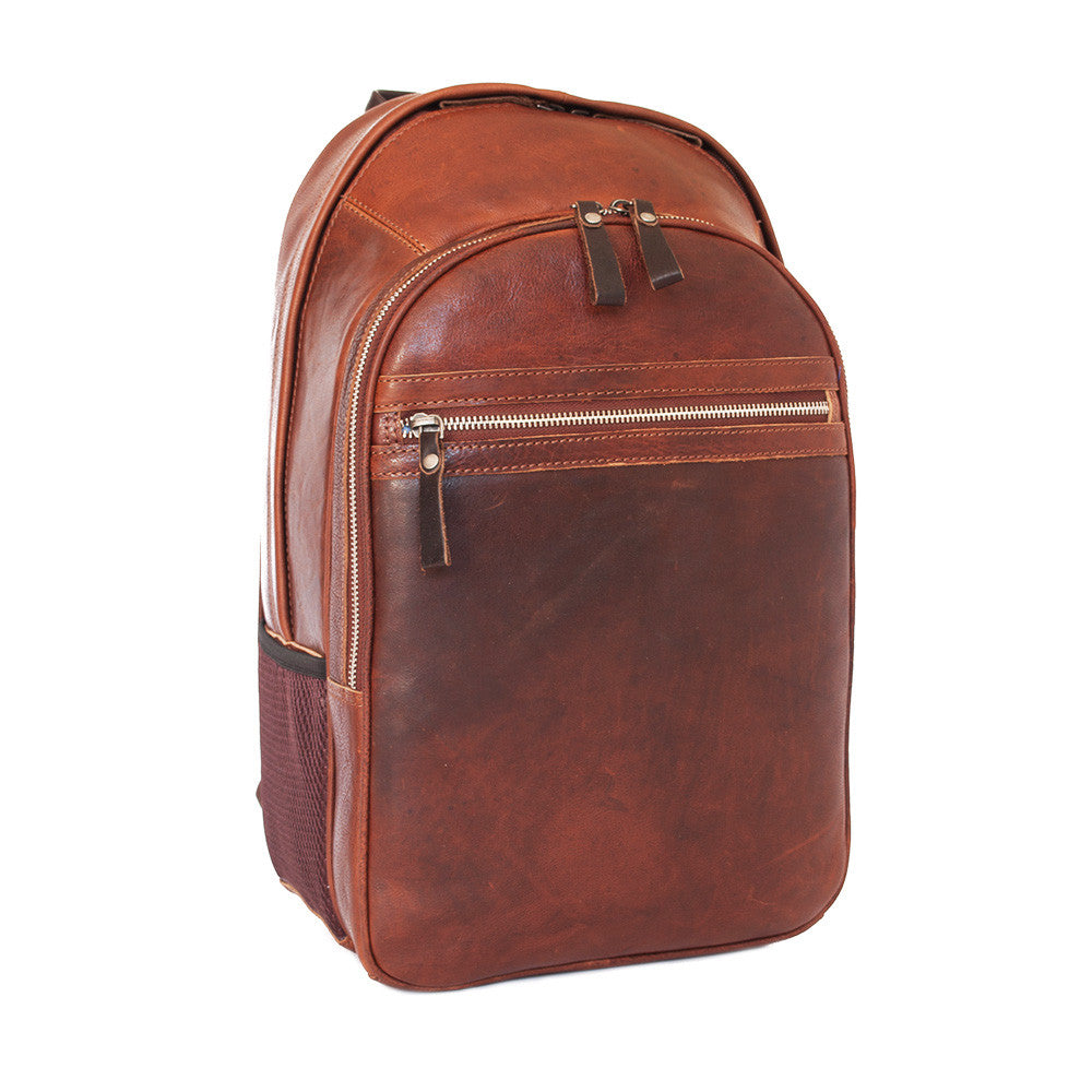 Rucksack, Ashwood Leather Rucksack | Tan - Voyager Leather