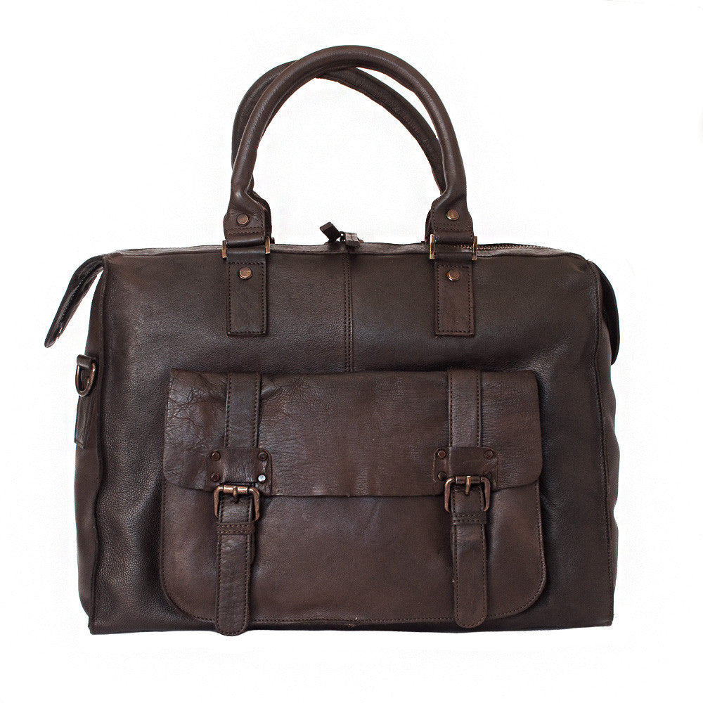 Holdall, Ashwood Shoreditch Leather Weekend Holdall | Brown - Voyager Leather