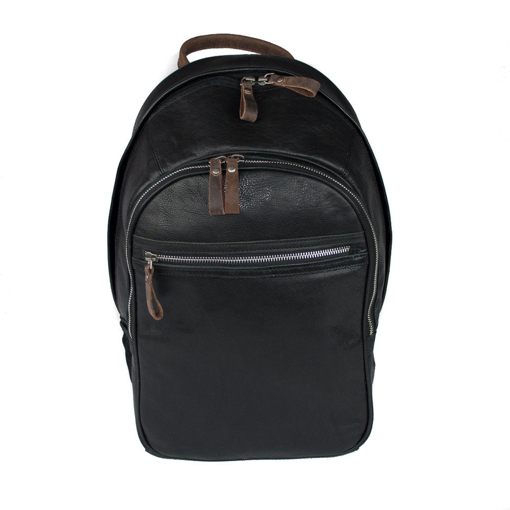 Rucksack, Ashwood Leather Rucksack | Black - Voyager Leather