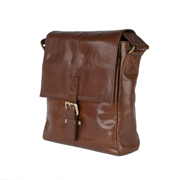 Man Bag, Ashwood Chelsea Leather Everyday Bag | Chestnut - Voyager Leather