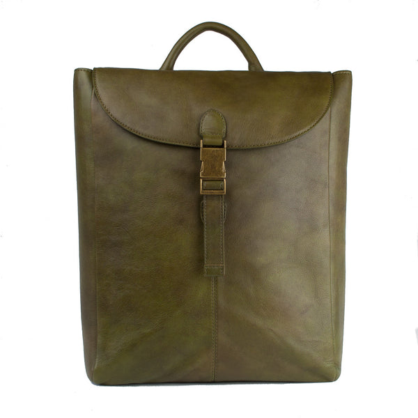 Rucksack, Leather Backpack | Olive - Voyager Leather