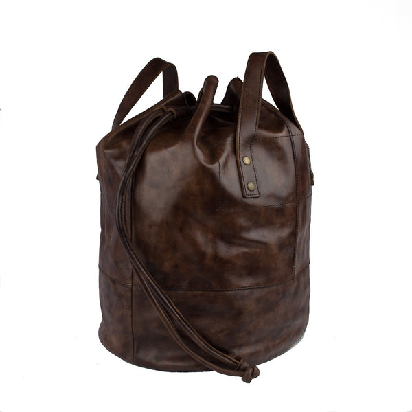 Duffel Bag, Men's Leather Duffel Bag | Brown - Voyager Leather
