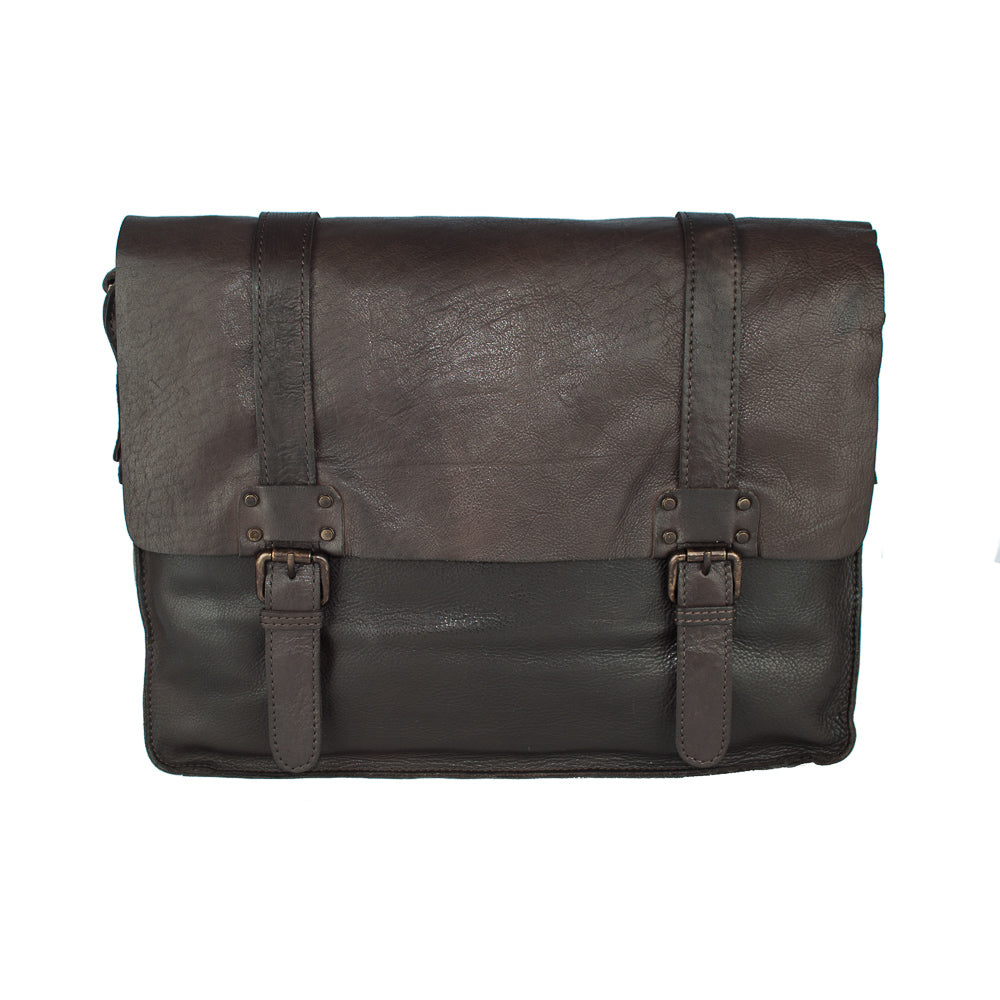 Messenger Bag, Ashwood Shoreditch Leather Messenger Bag | Brown - Voyager Leather