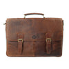 Briefcase, Rowallan Leather Briefcase | Cognac - Voyager Leather