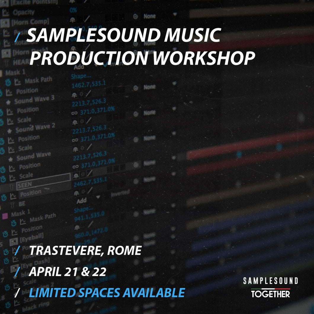 Music Production Work Shop // One Day Tier One Ticket