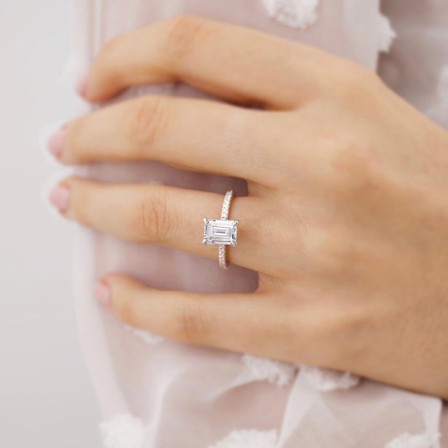 A Guide to Emerald Cut Moissanite Engagement Rings