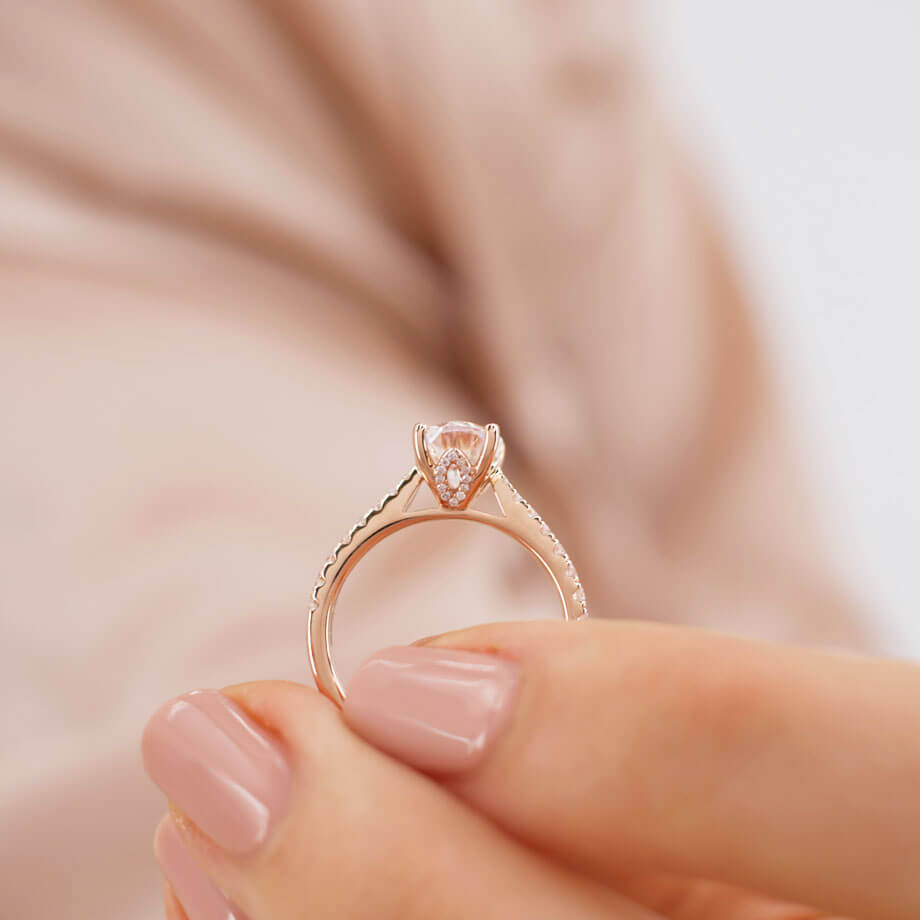 The Art of the Lily Arkwright Rose Gold Engagement Ring