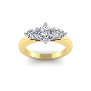 BESPOKE - 1.23 Total Carat Trilogy Ring