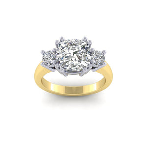 BESPOKE - Meghan Moissanite Trilogy Ring