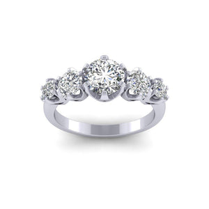 BESPOKE - 5 Stone Moissanite Multi Set Ring