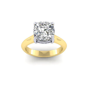 BESPOKE - Cushion Cut Diamond Gallery Solitaire