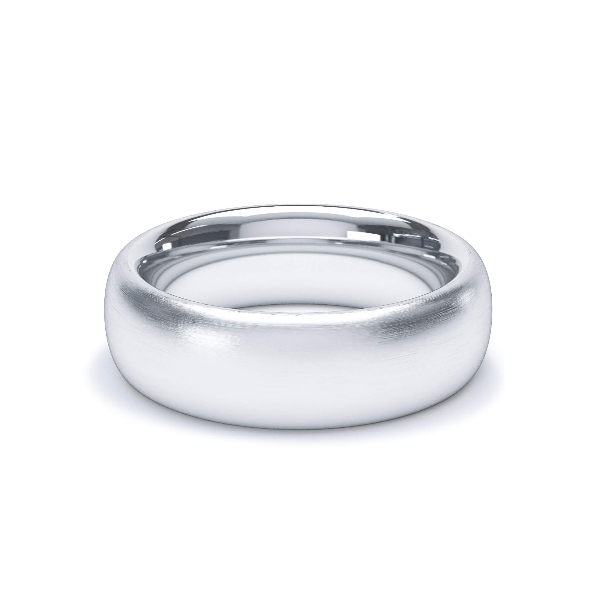 Satin Polish Wedding Band Regular Court Profile Platinum Wedding Bands Lily Arkwright