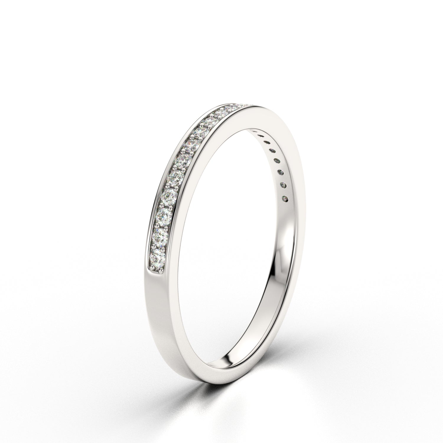 Lily Arkwright Eternity HARPER - Diamond Channel Set 18k White Gold Eternity