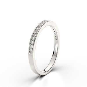 HARPER - Diamond Channel Set 18k White Gold Eternity