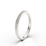 Harper Diamond Channel Set Platinum White Gold Eternity