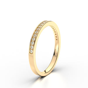 Harper Diamond Channel Set 18k Yellow Gold Eternity