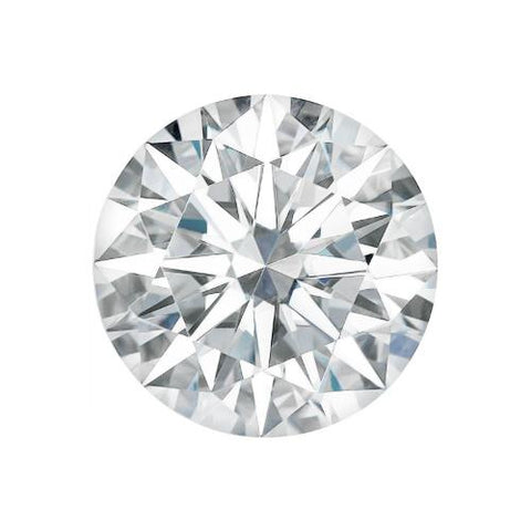 Charles and Colvard Moissanite Loose Gems (H&A) Round Cut G-I Colour